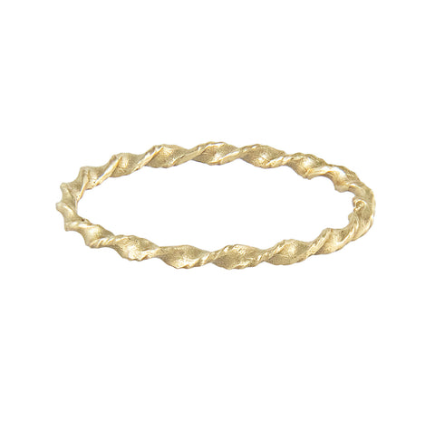 LXXXII Twist 1mm Gold Band