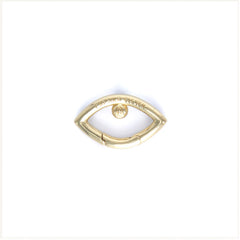 Eye Opener Capsule Link Necklace Gold