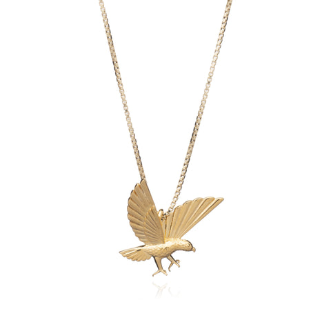 """Strength"" Statement Eagle Necklace Gold"