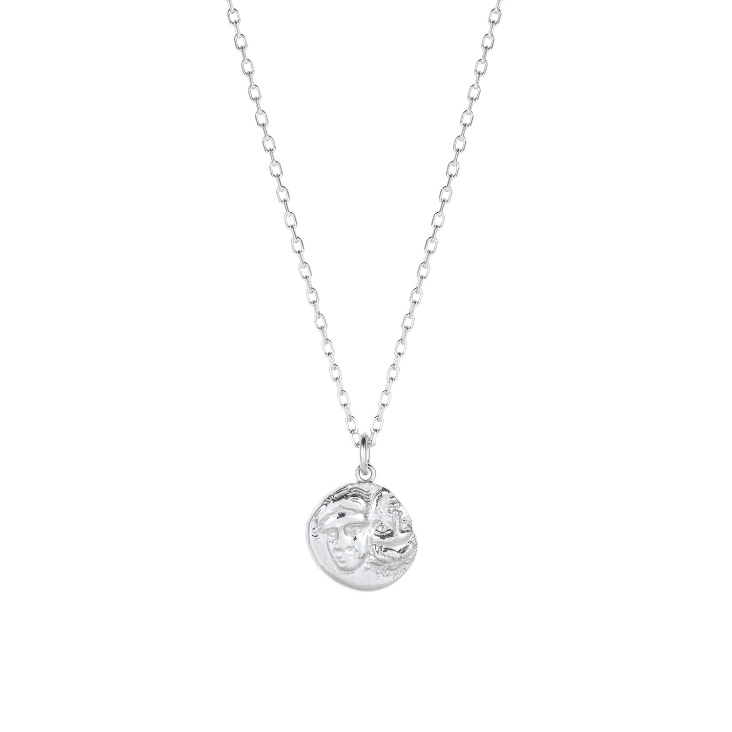 Istros Coin Necklace Silver