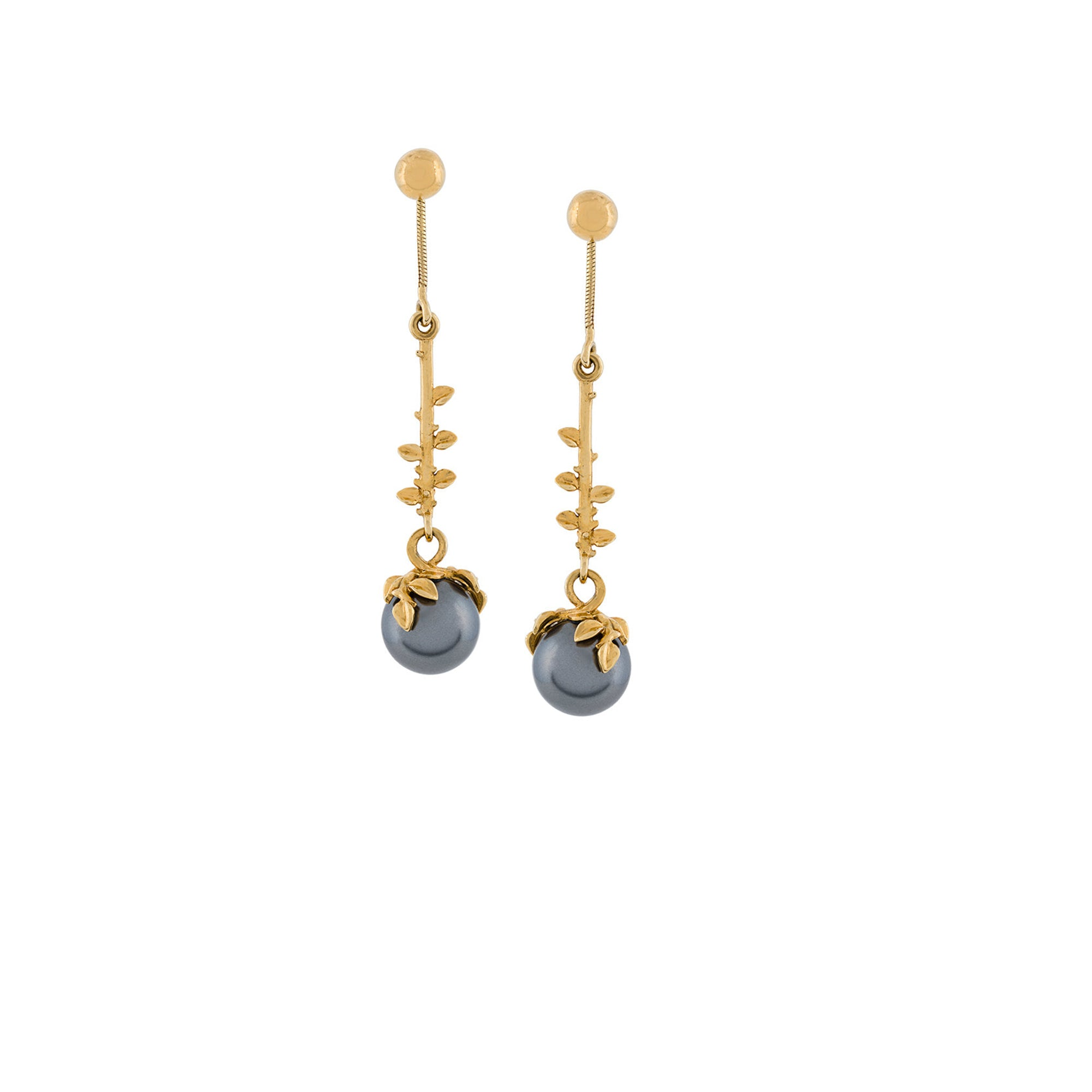 PEARL DROP EARRINGS GOLD