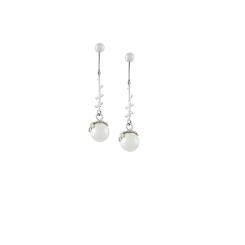 PEARL DROP EARRINGS SILVER