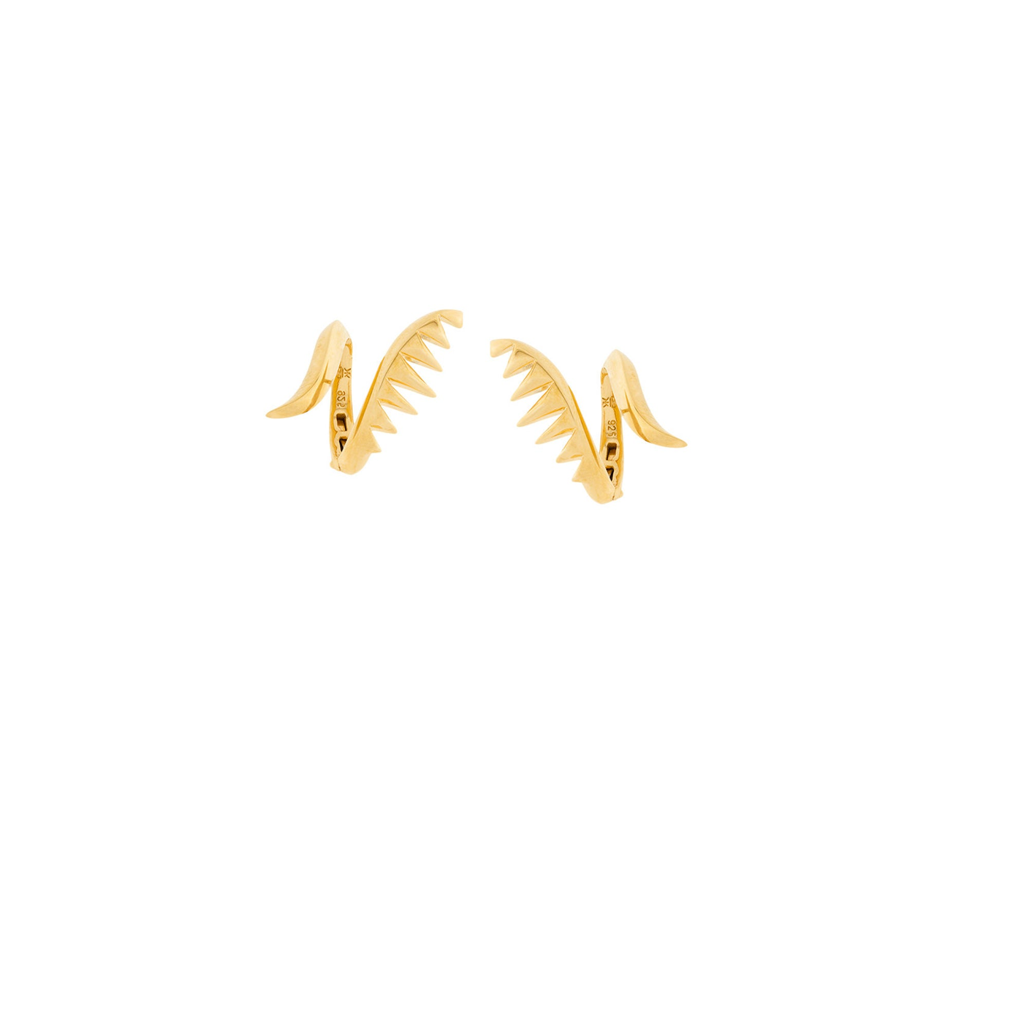 SERPENT EARRINGS GOLD