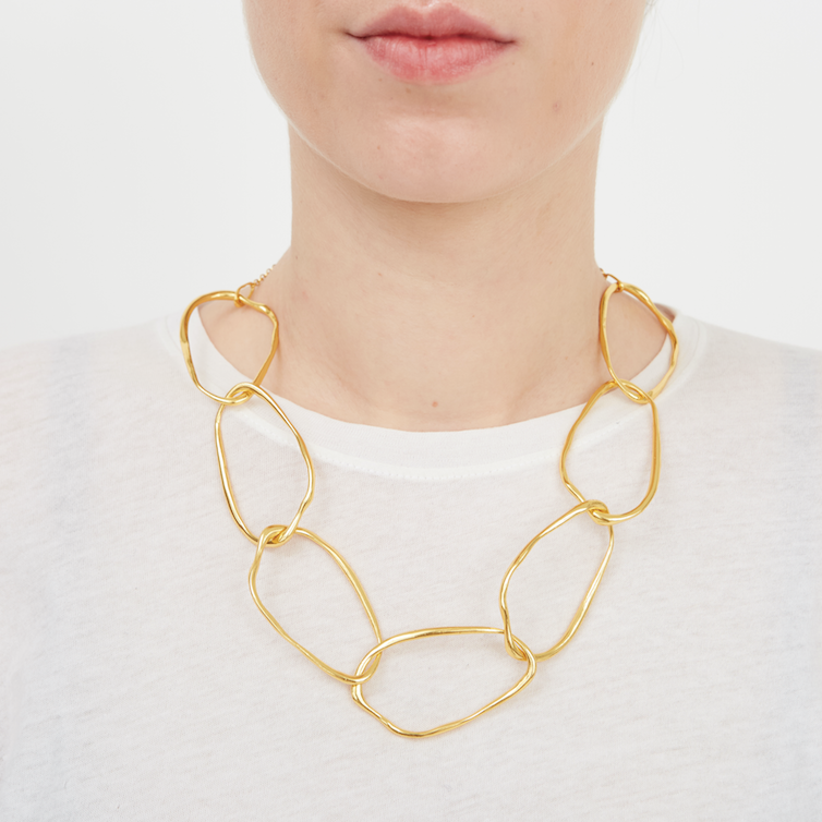 Organic Chain Link Necklace
