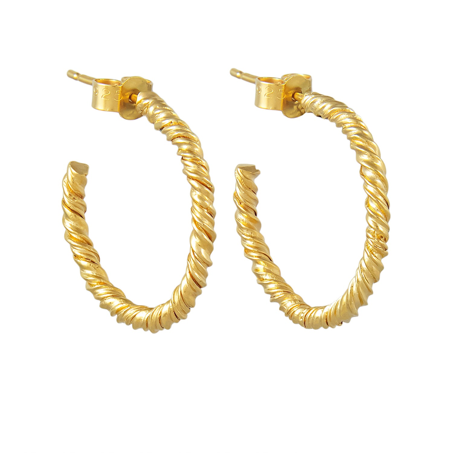 Organic Twisted Hoops Gold