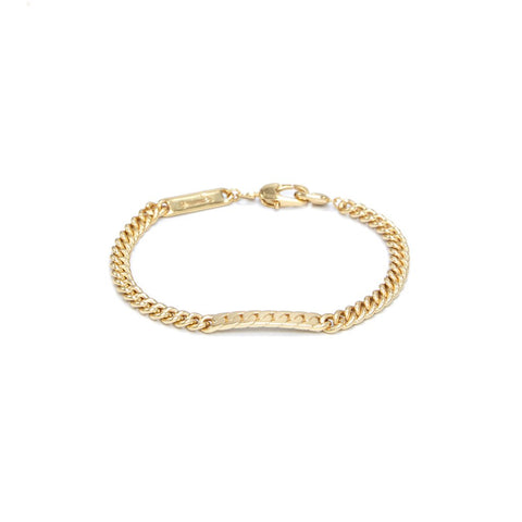 Power Tag Bracelet Gold