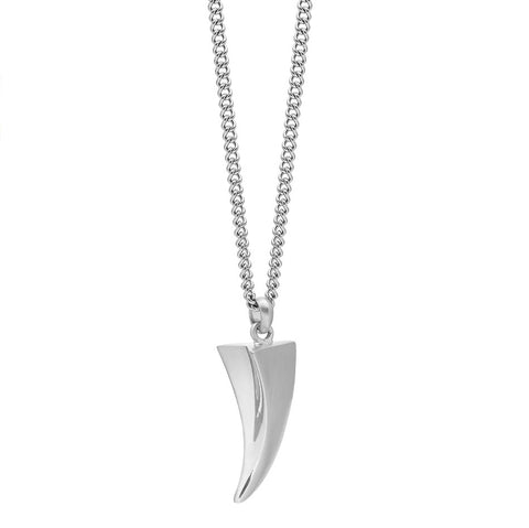 Tiger Claw Necklace In Silver