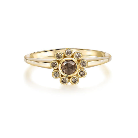 Aditi Gold Sherry Constellation Ring