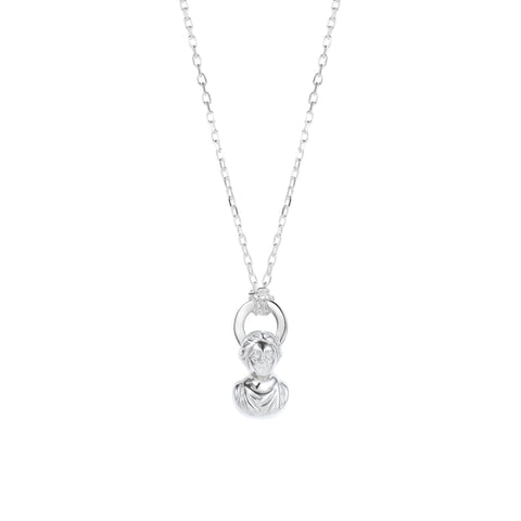 Halo Necklace Silver