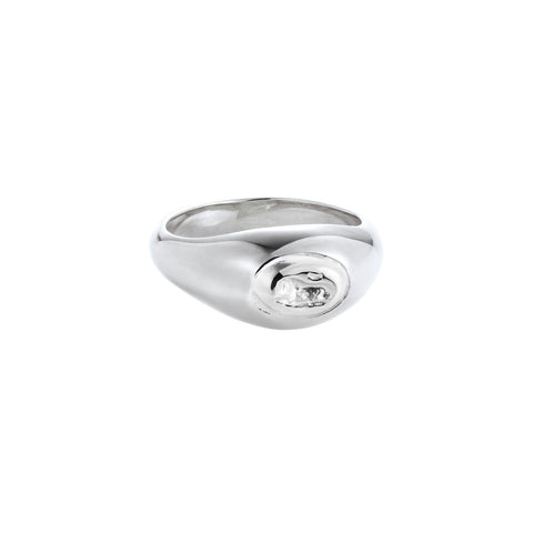 Lion Pinky Ring Silver