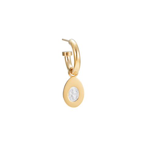 Baby Egg Hoop Earring Gold