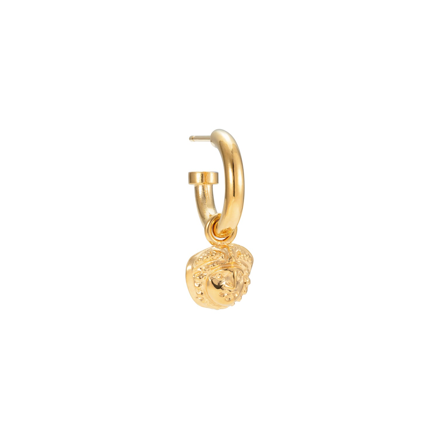 Mini Medusa Hoop Earring Gold