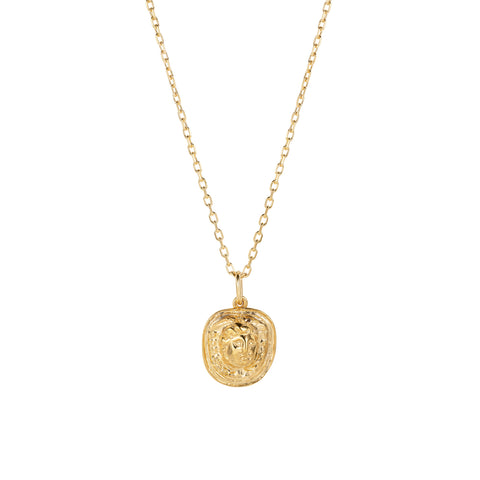 Medusa Cameo Necklace Gold
