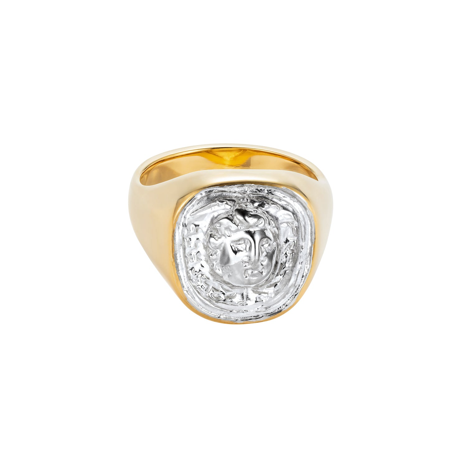 Medusa Signet Ring Gold