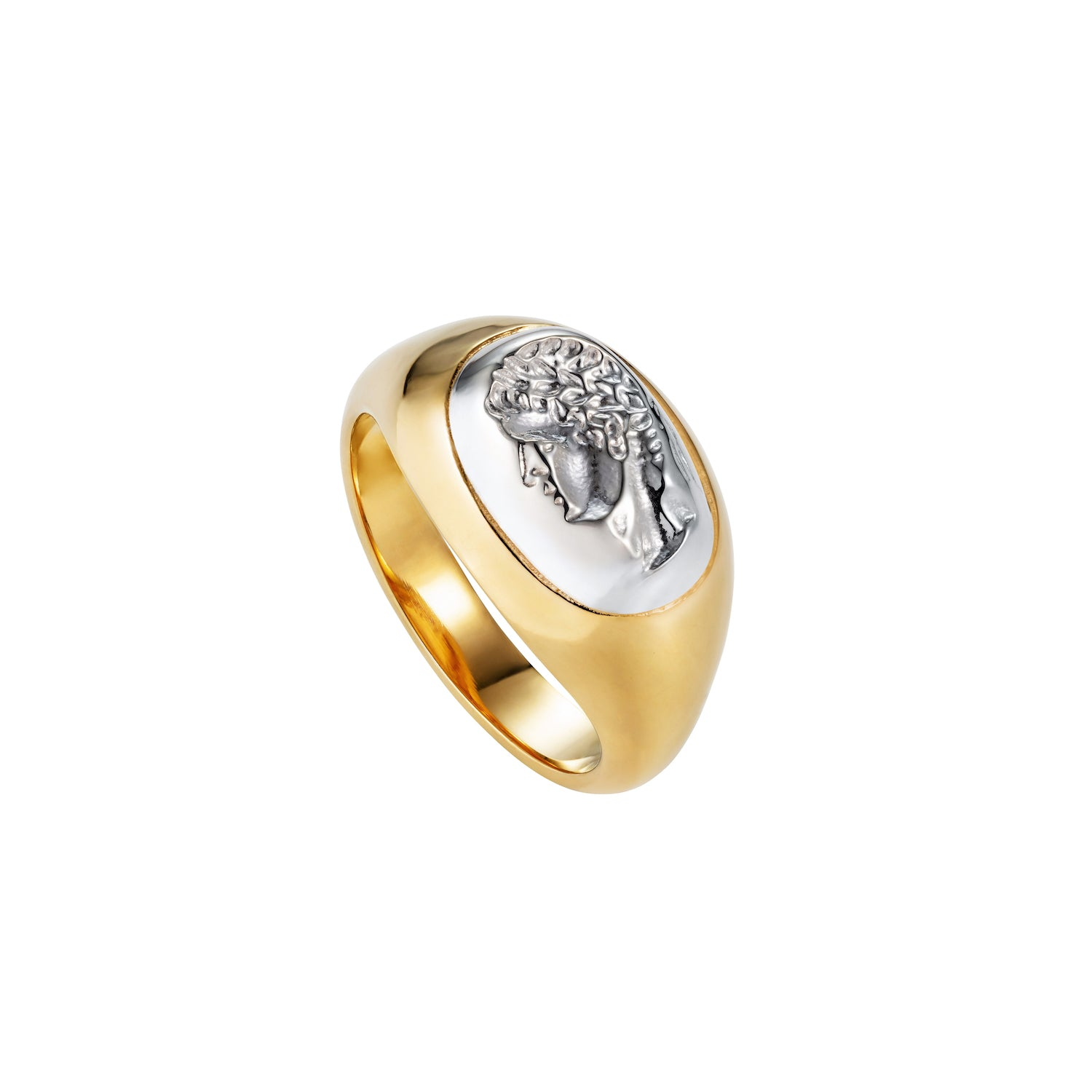 Portrait Of A Male Signet Ring Gold