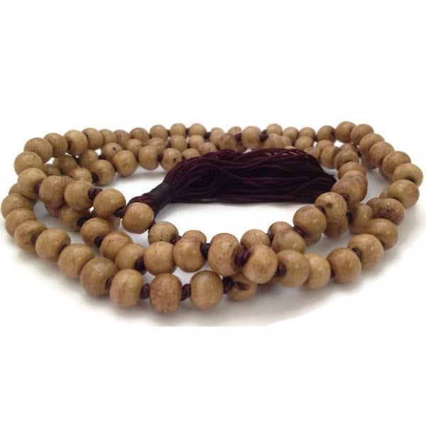 Tibetan Brown Bone 108 Beads Full Mala Hand Knotted