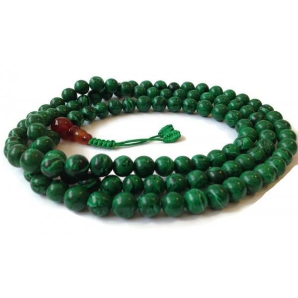 Tibetan Malachite 108 Beads Full Mala