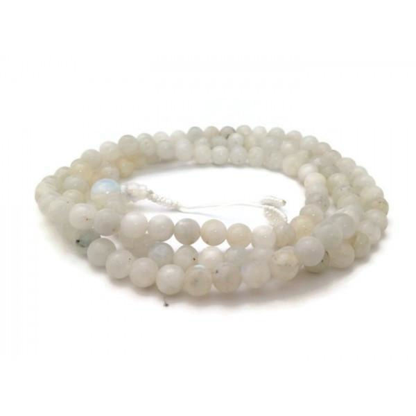 Tibetan Rainbow Moonstone 108 Beads Full Mala