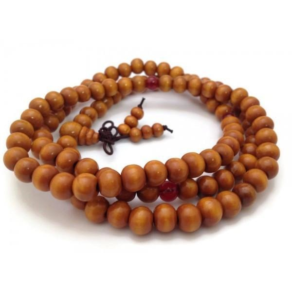 Tibetan Wood Beads 108 Strech Full Mala