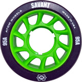 atom savant 95a black quad skate wheel