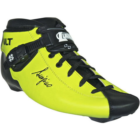 Fluorescent Yellow Matte custom color Luigino Bolt inline skate boot