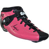 Pink custom color Luigino Bolt inline skate boot