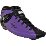 Purple custom color Luigino Bolt inline skate boot