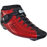 Red Metallic Gloss custom color Luigino Bolt inline skate boot