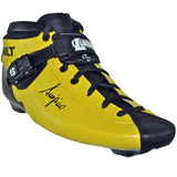 Fluorescent Yellow Gloss custom color Luigino Bolt inline skate boot