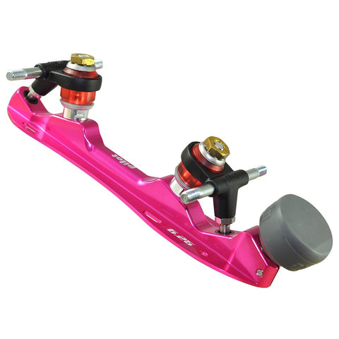 Pilot Falcon Plus Pink Colored Quad Plate @ Atom Skates