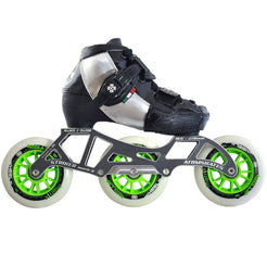 Luigino Kid's 3 Wheel Adjustable Challenge Outdoor Inline Skate Package