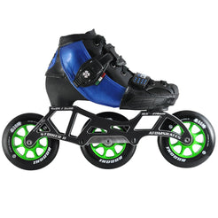 Luigino Kid's 3 Wheel Adjustable Challenge Indoor Inline Skate Package