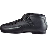 Black Luigino Q4 Quad Skate Boot side view
