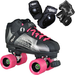 Rave Starter Quad Skate Package with Atom Gear Protective Wear