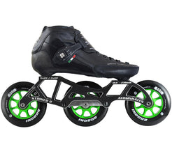 Luigino Strut 3 Wheel Indoor Inline Skate Package