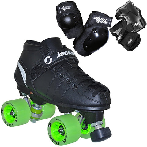 Jackson VIP starter Quad Skate Package with Atom Gear protective wear available @ Atom Skates