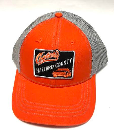 Cooter's Hazzard County GL Patch Trucker Hat (Grey Mesh)