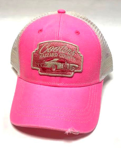 Cooter's HC General Lee Trucker Hat (Pink/White)