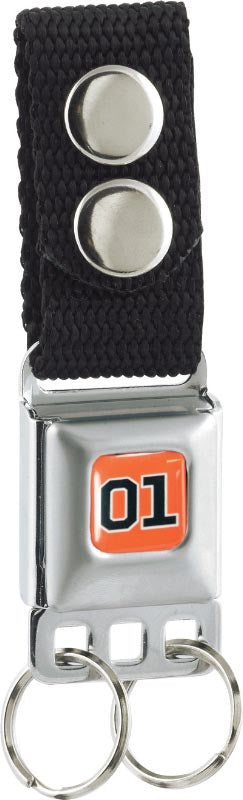 Metal Keychain Orange 01 SeatBelt Style