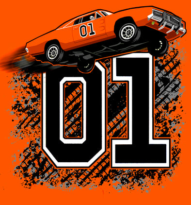 Postcard General Lee Jumping 01