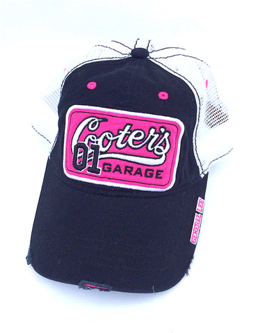 Cooter's Garage Patch Trucker Hat (Black/Pink)