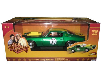 "1:18 Cooter's #99 Green Chevrolet Camaro ""Dukes of Hazzard"" Car"