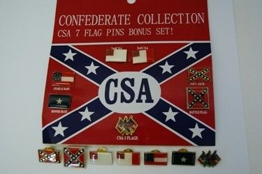 Confederate Flag Hat Pin Set