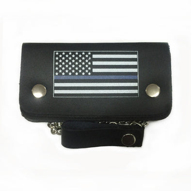 BIKER WALLET 6.5″ USA BLUE LINE