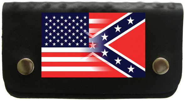 "BIKER WALLET 6.5"" USA /CONFEDERATE BLENDED"