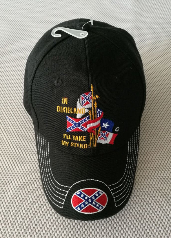 In Dixieland I'll Take My Stand Confederate Emb. Hat