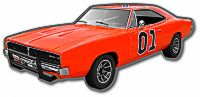 Die Cut Magnet General Lee
