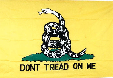 GADSDEN Don't Tread on Me EMBROIDERED FLAG (YELLOW)