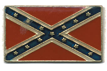 Confederate Flag Hat Pin Rectangle