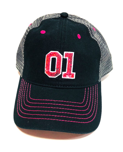 Cooter's 01 Sequins Trucker Hat (Pink/Black)